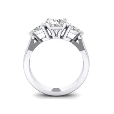 Pear Three-Stone Crystal Engagement Ring (1.05 CTW) Side View
