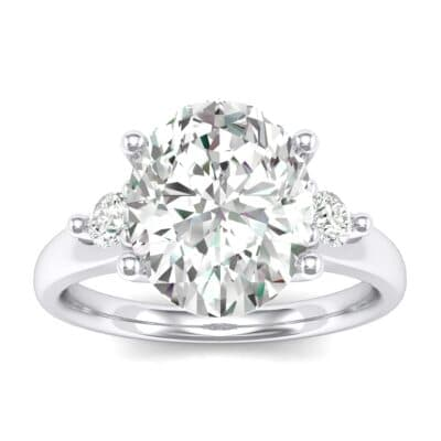 Shoulder Accent Oval Crystals Ring (2.54 Carat)