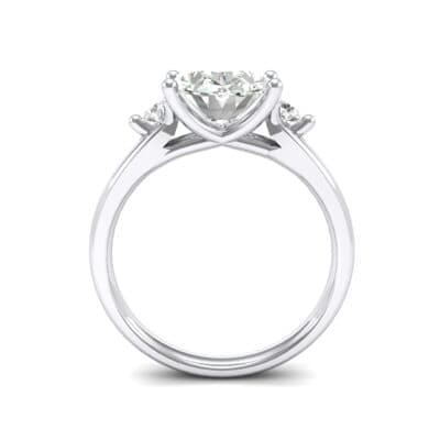 Shoulder Accent Oval Crystal Ring (2.54 CTW) Side View