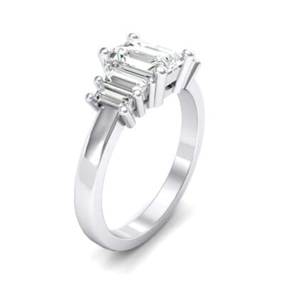 Stepped Five-Stone Crystals Engagement Ring (1 Carat)