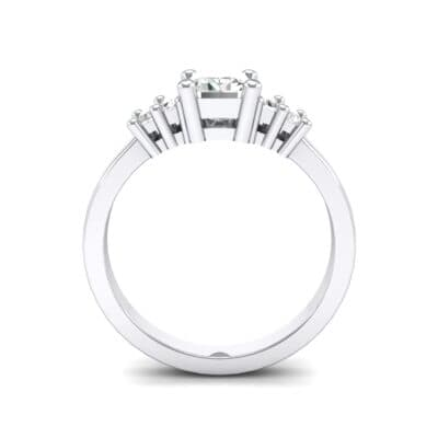 Stepped Five-Stone Crystal Engagement Ring (1 CTW) Side View