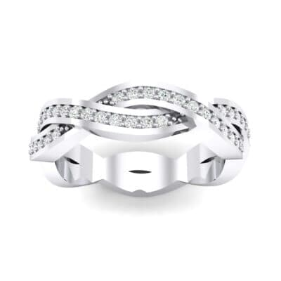 Twist Pave Crystals Eternity Ring