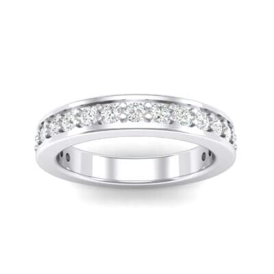 Flat-Sided Pave Crystals Ring (0.86 Carat)