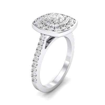 Gala Double Halo Cushion-Cut Crystal Engagement Ring (0.36 CTW)