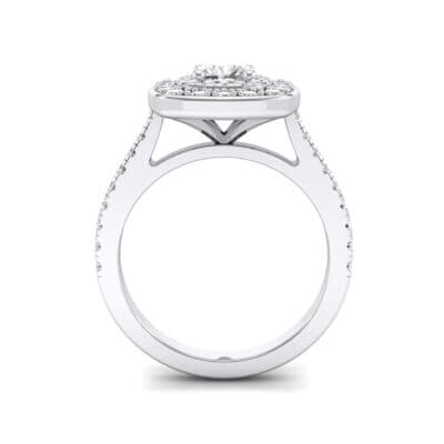 Gala Double Halo Cushion-Cut Diamond Engagement Ring (0.92 CTW) Side View