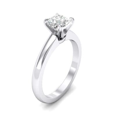 Claw Prong Cushion-Cut Solitaire Crystal Engagement Ring (0.66 CTW)