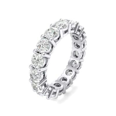 Luxe Shared Prong Crystals Eternity Ring