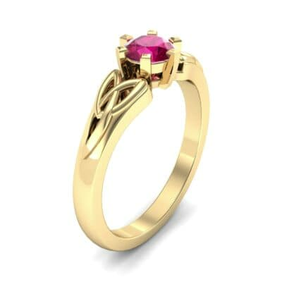 Celtic Six-Prong Ruby Engagement Ring (0.64 Carat)