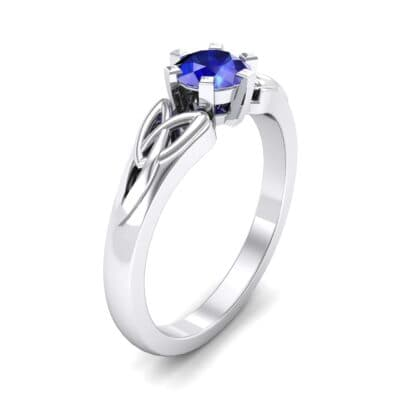 Celtic Six-Prong Blue Sapphire Engagement Ring (0.64 Carat)