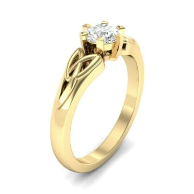 Celtic Six-Prong Diamond Engagement Ring (0.46 Carat)