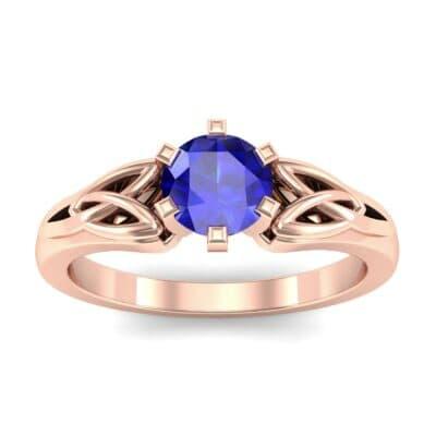 Celtic Six-Prong Blue Sapphire Engagement Ring (0.64 Carat)