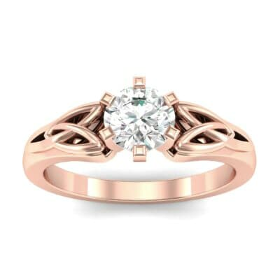 Celtic Six-Prong Diamond Engagement Ring (0.46 Carat)
