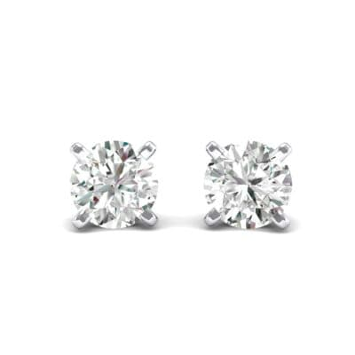 Classic Round Brilliant Crystals Stud Earrings (0.7 Carat)