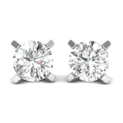 Classic Round Brilliant Crystals Stud Earrings (0.32 Carat)