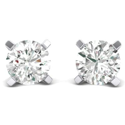 Classic Round Brilliant Crystals Stud Earrings (0.44 Carat)