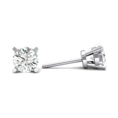 Classic Round Brilliant Crystal Stud Earrings (0.44 CTW) Top Dynamic View