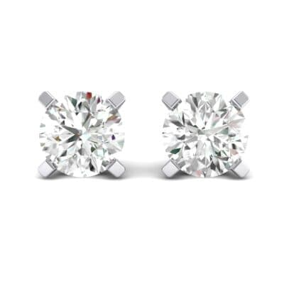 Classic Round Brilliant Crystal Stud Earrings (0.44 CTW) Side View