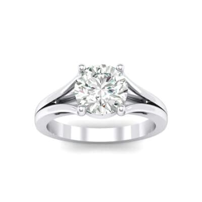 Cathedral Split Shank Solitaire Crystals Engagement Ring (0.36 Carat)