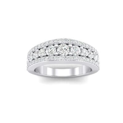Reina Three-Row Pave Crystals Ring