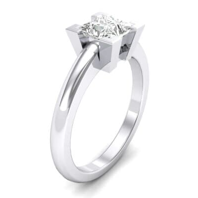 Cathedral Princess-Cut Solitaire Crystal Engagement Ring (0.65 CTW)