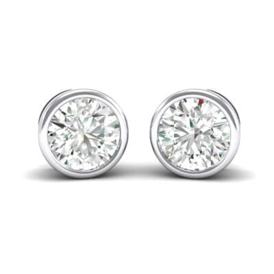 Bezel-Set Round Brilliant Crystals Stud Earrings
