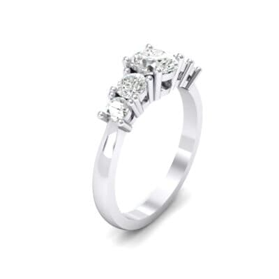 Oval and Round Five-Stone Crystal Engagement Ring (0.64 CTW)