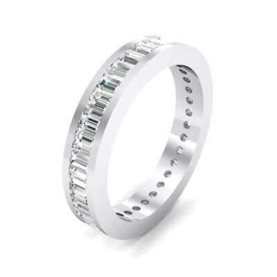Channel-Set Baguette Crystal Eternity Ring (2.04 CTW)