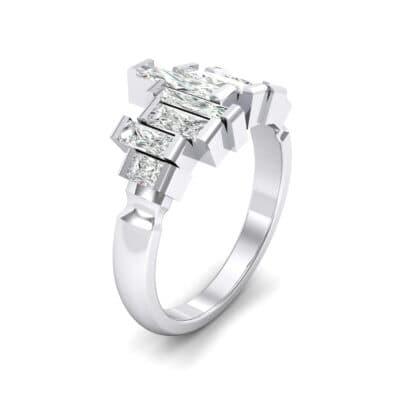 Staggered Bar-Set Crystal Ring (0 CTW)