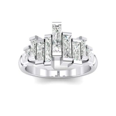 Staggered Bar-Set Crystals Ring