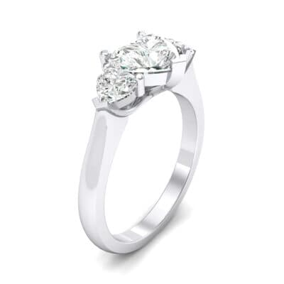 Heart Three-Stone Trellis Crystal Engagement Ring (1.13 CTW)