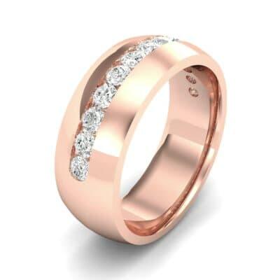 Domed Channel-Set Diamond Wedding Ring (1.04 Carat)