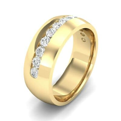 Domed Channel-Set Diamond Wedding Ring (1.04 Carat)