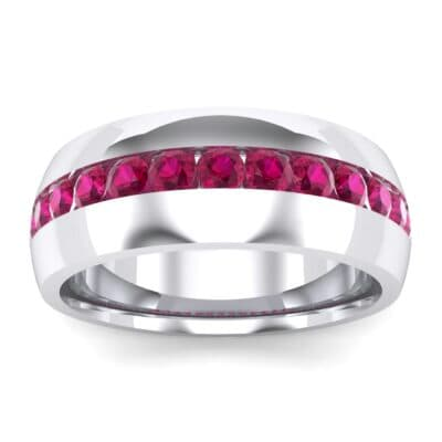 Domed Channel-Set Ruby Wedding Ring (1.17 Carat)