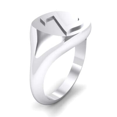 Custom Initial Signet Ring