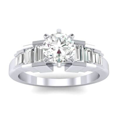Stepped Shoulder Diamond Engagement Ring (0.67 Carat)