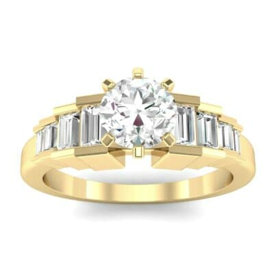 Stepped Shoulder Diamond Engagement Ring (0.67 Carat)