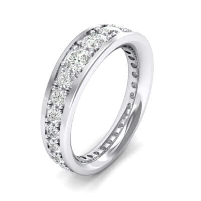 Round Brilliant Tapered Crystals Eternity Ring (1.98 Carat)