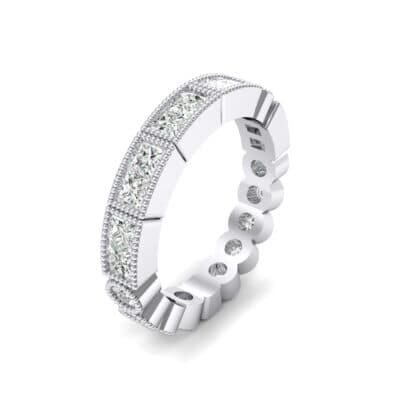 Lady Milgrain Bezel-Set Crystal Ring (1.5 CTW)