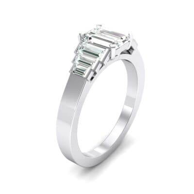 Stepped Baguette Crystal Engagement Ring (0.6 CTW)
