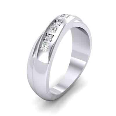 Overlapping Band Diamond Wedding Ring (0.34 Carat)