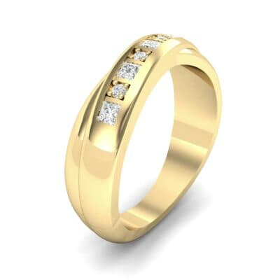 Overlapping Band Diamond Wedding Ring (0.34 Carat)