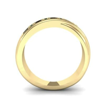 Overlapping Band Emerald Wedding Ring (0.46 CTW) Side View