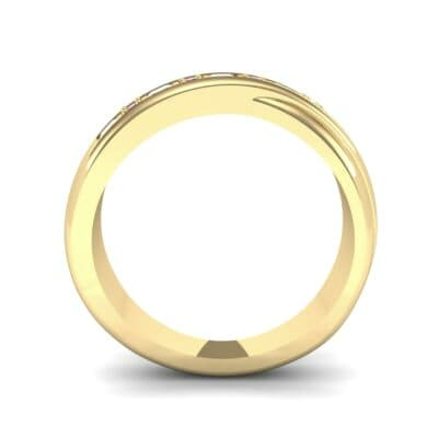 Overlapping Band Ruby Wedding Ring (0.46 CTW) Side View