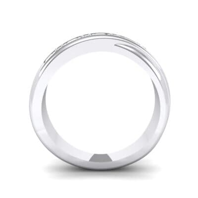 Overlapping Band Diamond Wedding Ring (0.34 CTW) Side View