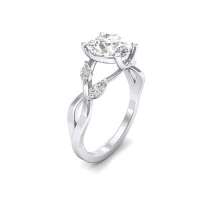Twisting Vine Crystals Engagement Ring (2.04 Carat)