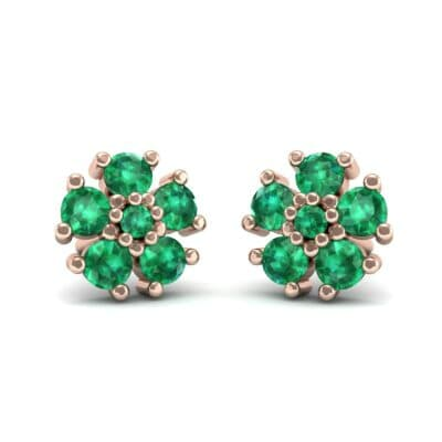 Petunia Emerald Earrings (0.43 CTW) Perspective View