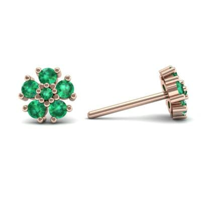 Petunia Emerald Earrings (0.43 CTW) Top Dynamic View