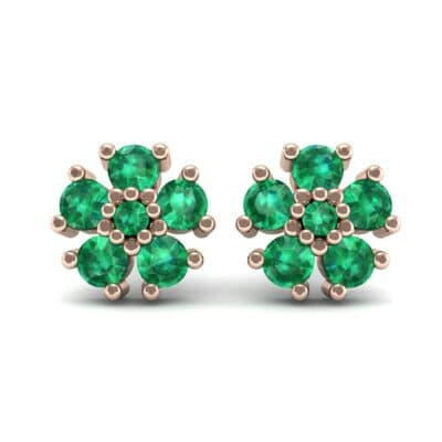Petunia Emerald Earrings (0.43 CTW) Side View
