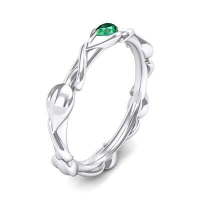 Honeysuckle Vine Emerald Ring (0.22 Carat)
