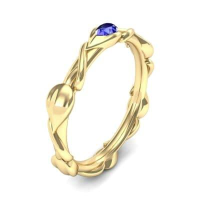 Honeysuckle Vine Blue Sapphire Ring (0.22 Carat)